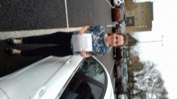 A great pass for Kitty on her first attempt with Martin´s Driving school with just 3 minors.