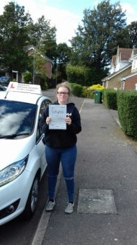 Well done Olivia passing on her first attempt with just 3 minors.